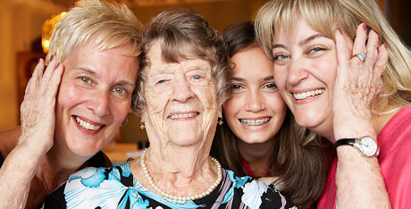 A group of women representing four generations