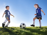 Soccer Kids Playing